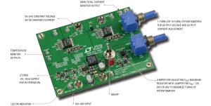 Figura 1. Didascalia della foto della scheda dimostrativa: Il circuito Linear Technology DC2132A è un alimentatore da banco DC efficiente, compatto e dalle prestazioni elevate.