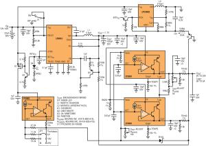 Figura 3. Alimentatore da banco DC completo: 0–24 V, 0–3 A.